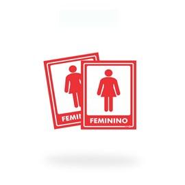 AV10 FEMININO ADEVISO PAREDE KIT C/2 UND.15X20