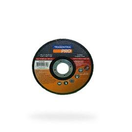 DISCO DE CORTE P/ ACOS E METAIS FERROSOS 4.1/2  (115X3X22,2MM) TRAMONTINA PRO