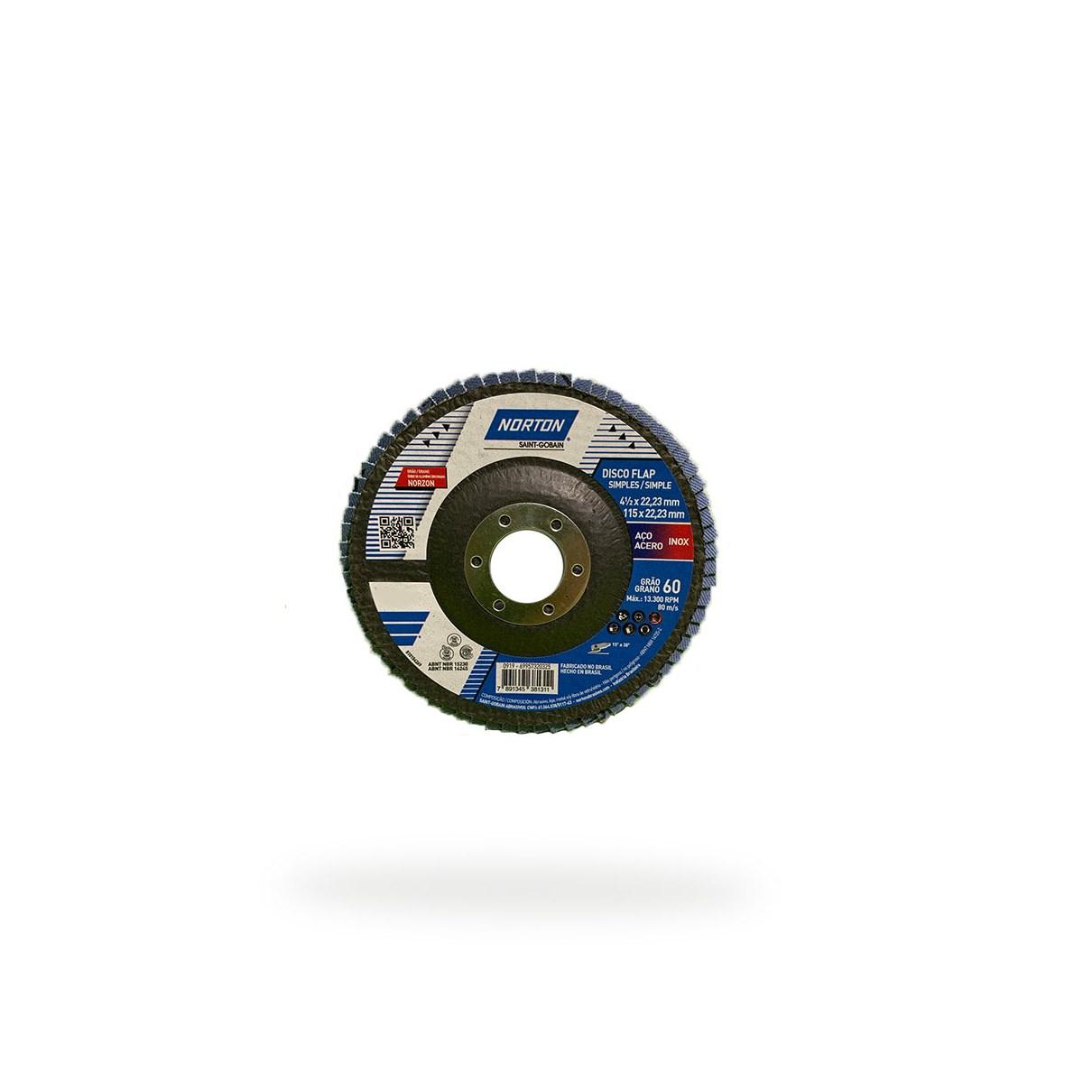 DISCO FLAP ORIGINAL R822 P60 115X22,23MM NORTON