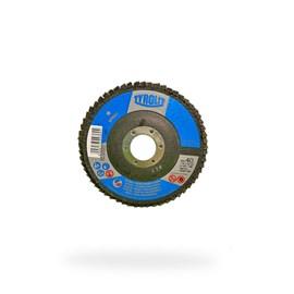 DISCO FLAP OXIDO DE ALUMINIO 28A 115X22,23 A40-B BASIC