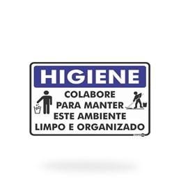 PS854 HIGIENE COLABORE PARA MANTER LIMPO 30X20